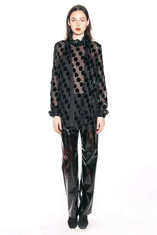 Arabesque Metallic Jacquard Tunic Top