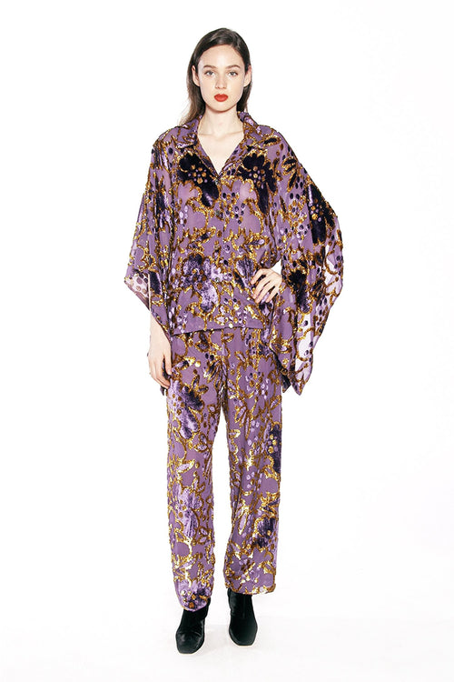 Magic Moments Metallic Velvet Jacquard Caftan