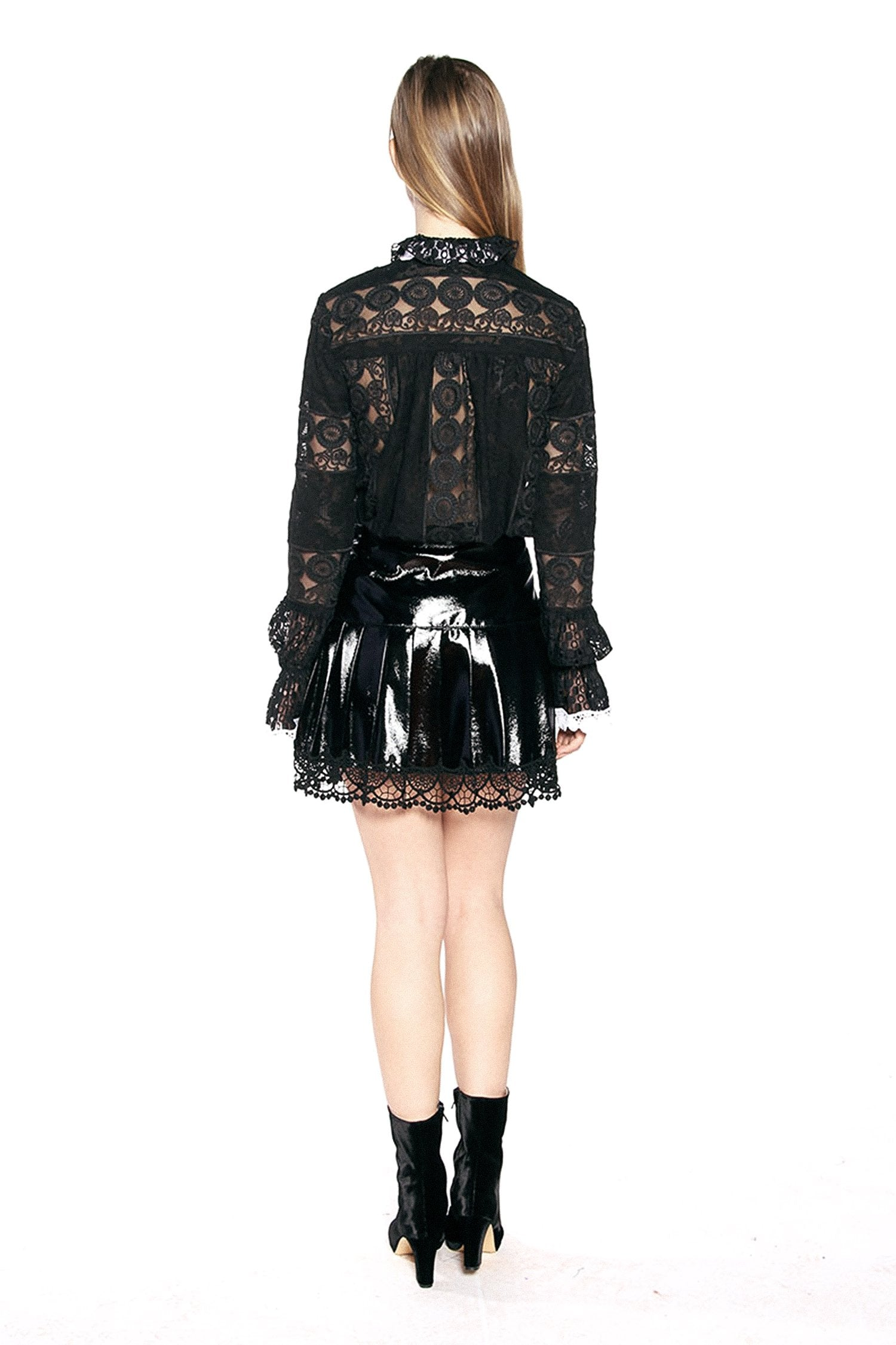 Chunky Corduroy & Patent Skirt - Anna Sui