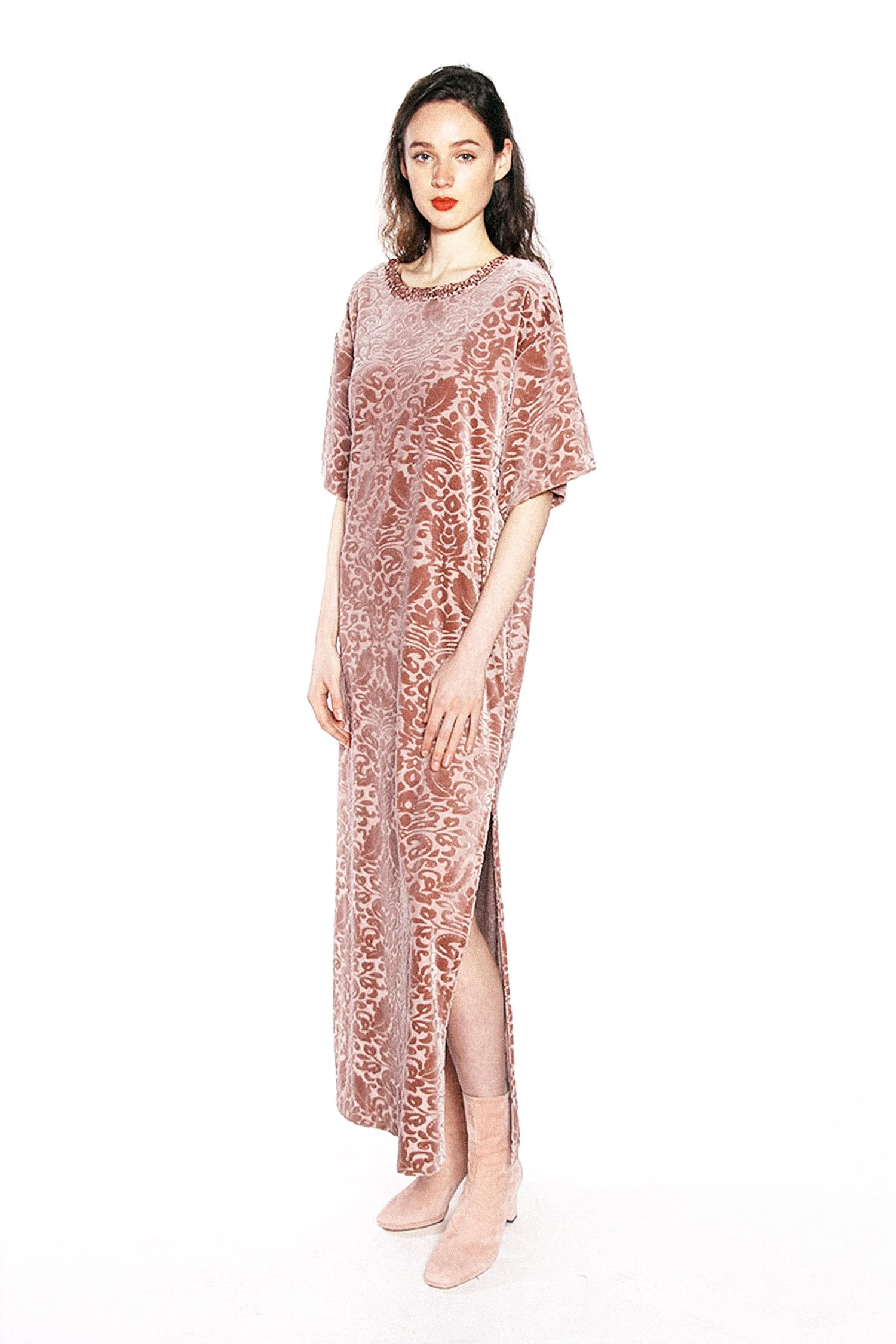 Damask Velvet Knit Dress - Anna Sui