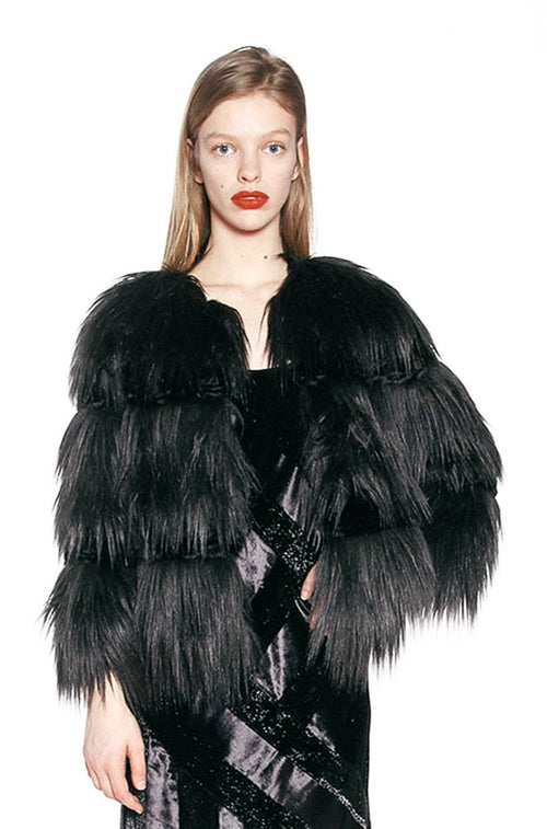 Luxe Fox Faux Fur Jacket - Anna Sui