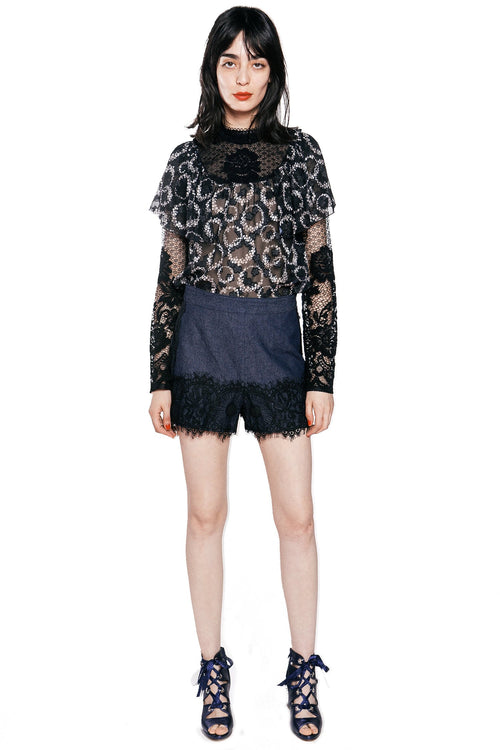 Cherry Picnic Long Sleeve Top - Anna Sui