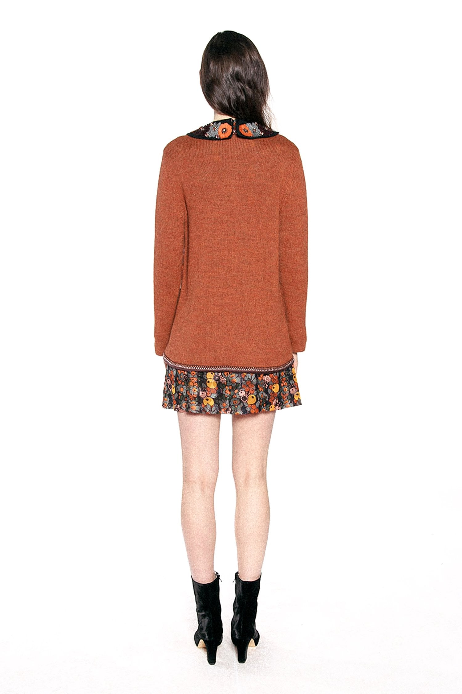 James Coviello for Anna Sui <br> Floral Embroidery Knit Cardigan </br>