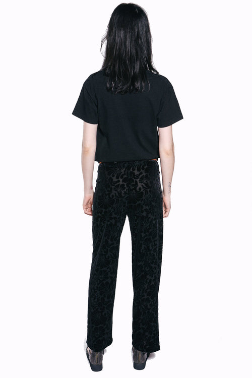 Floating Palms Burnout Pant - Anna Sui
