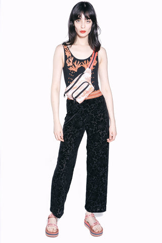 Love Birds Cameo Metallic Jacquard Pant
