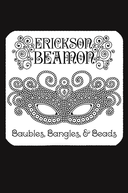 ERICKSON BEAMON <br> Handmade Black Crystal Earrings