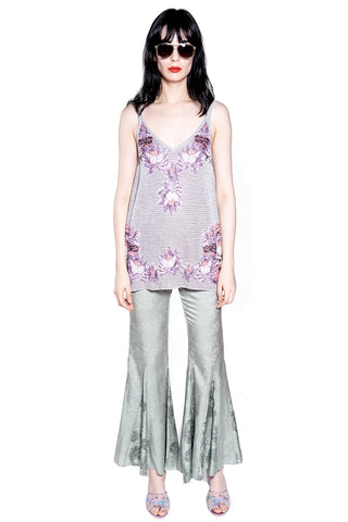 Daisy Delight Metallic Velvet Jacquard Top