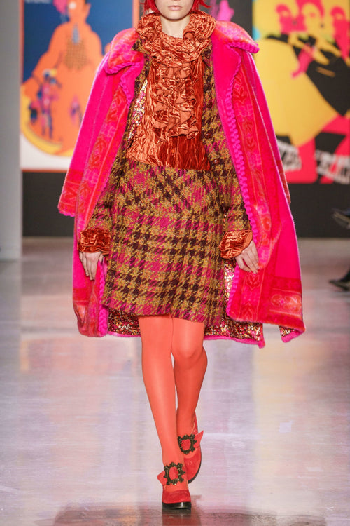 Chunky Tweed School Girl Skirt - Anna Sui