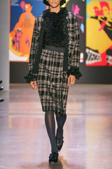 Plaid Shimmer Sequin Skirt - Anna Sui