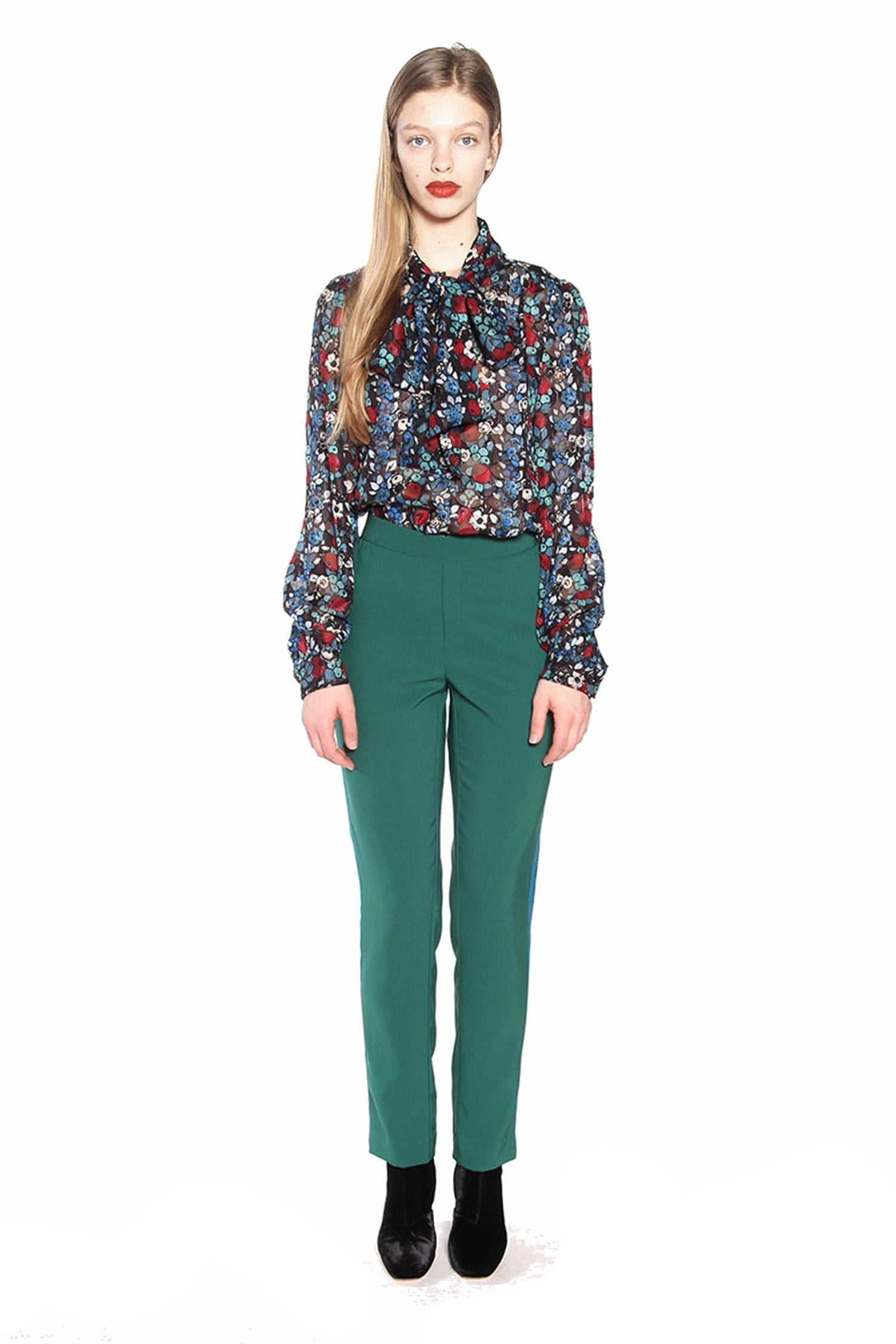 Color Block Crepe Pant - Anna Sui