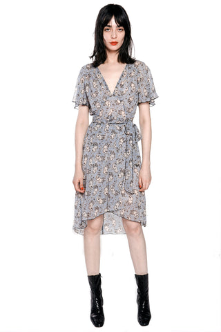 Blooming Buds Clipped Jacquard & Lace Dress