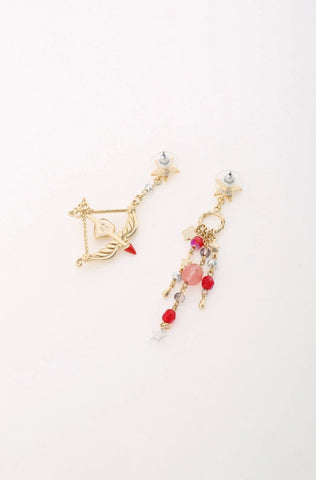 Gold and Red Goblet Necklace <br> SS20 </br>