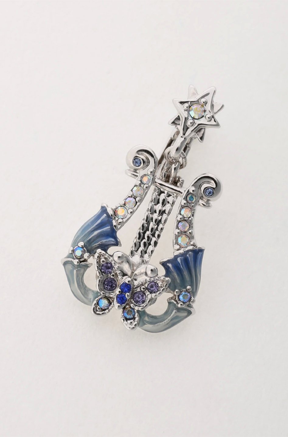 Silver Butterfly Harp Earrings <br>SS20</br> - Anna Sui