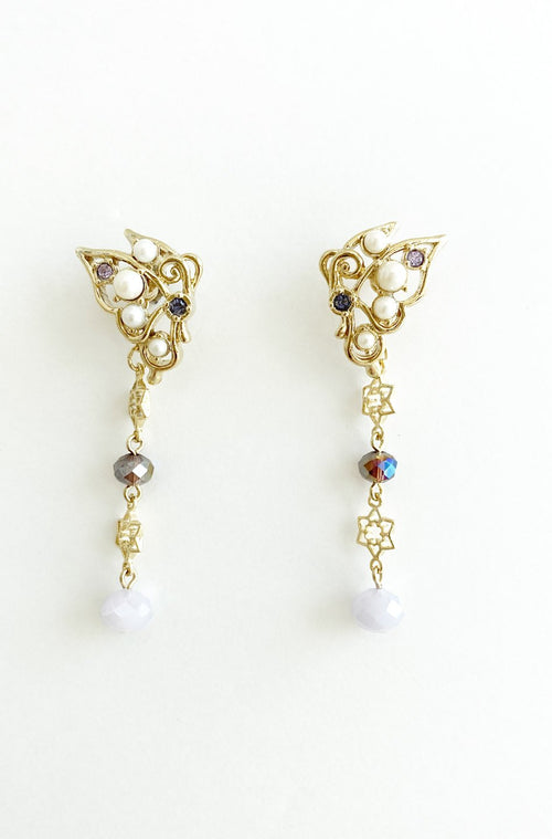 Whimsical Butterfly Drop Earrings in Gold <br> SS20 </br> - Anna Sui