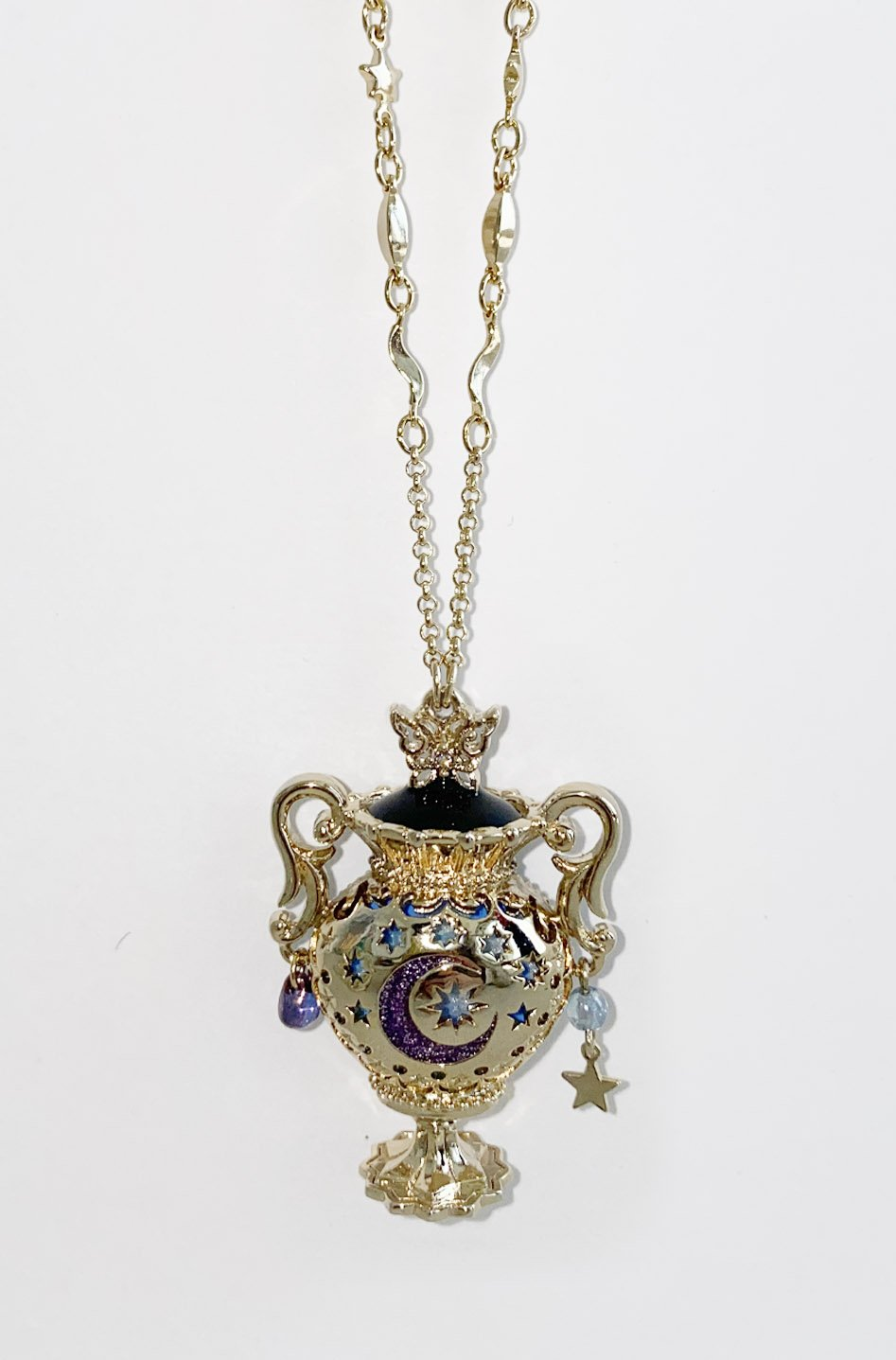 Gold Vase Statement Necklace <br> SS20 </br> - Anna Sui