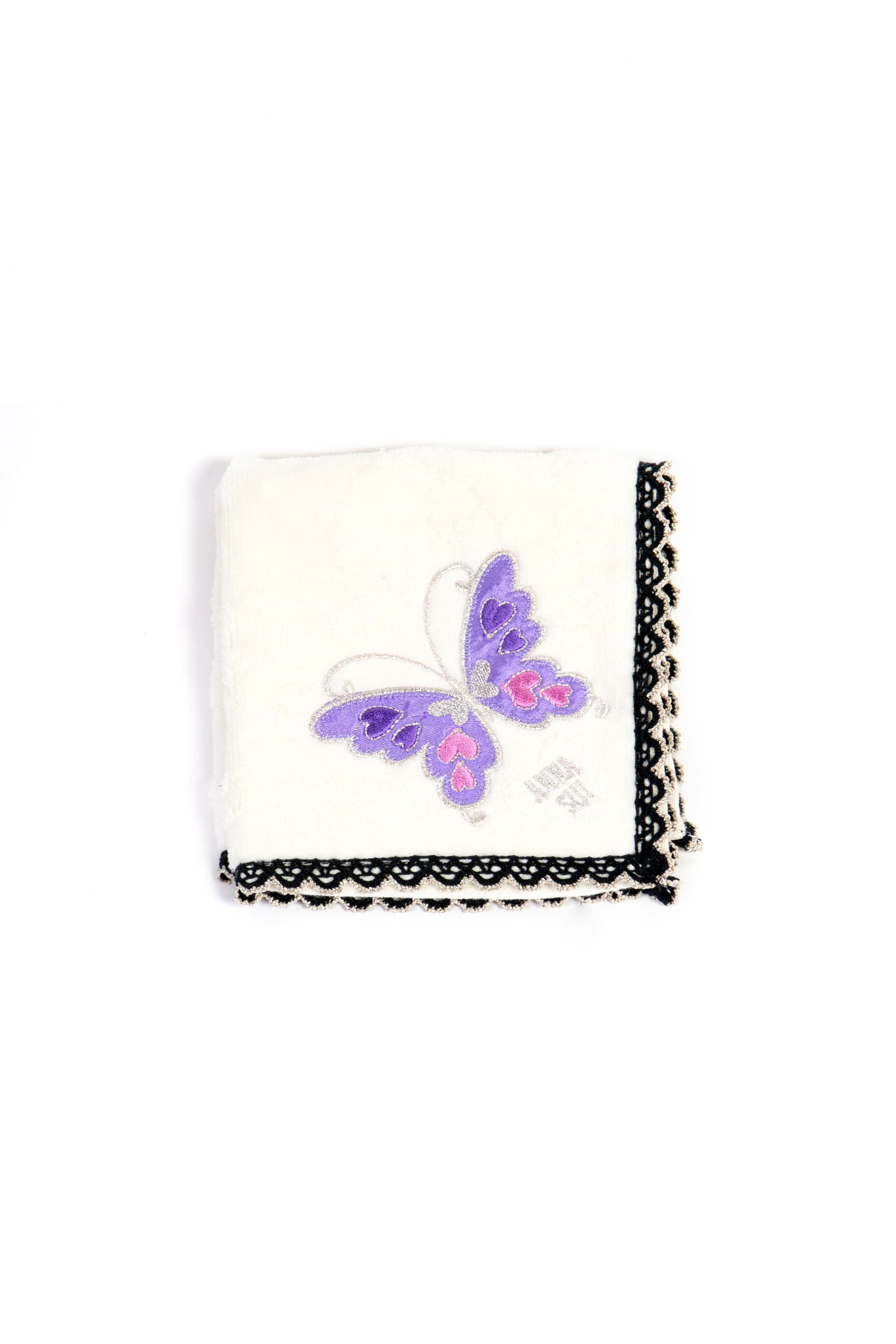 Butterfly Embroidered Washcloth - Anna Sui