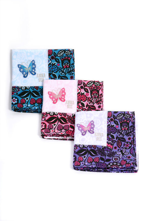Butterfly Border Handkerchief - Anna Sui
