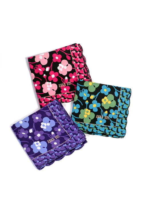 Wildflowers in the Wind Handkerchief - Anna Sui