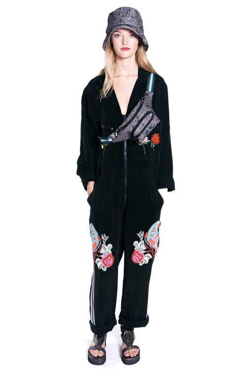Take Flight Embroidery Jumpsuit - Anna Sui