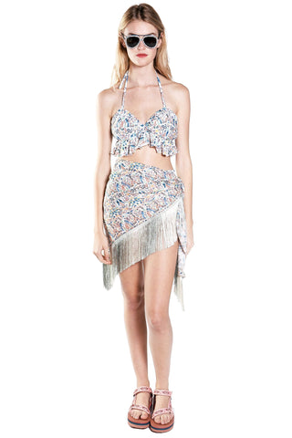 Waterlilies Strapless Dress