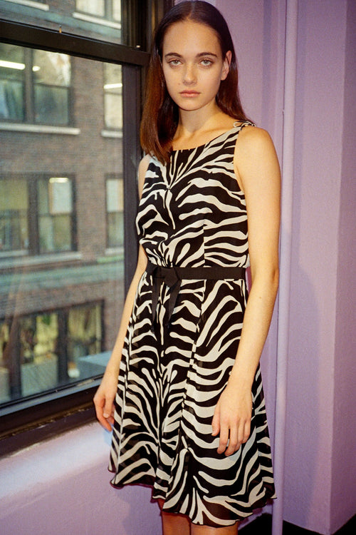 Vintage Zebra Dress - Anna Sui