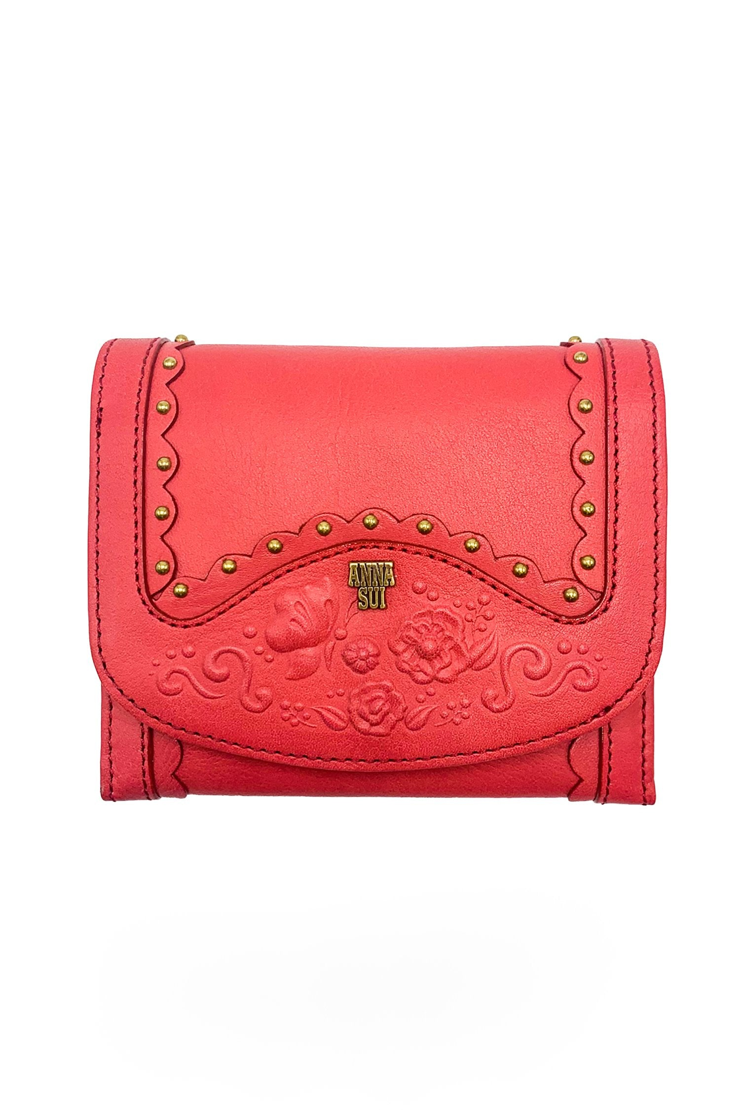 Butterfly Garden Embossed  Flap Wallet - Anna Sui