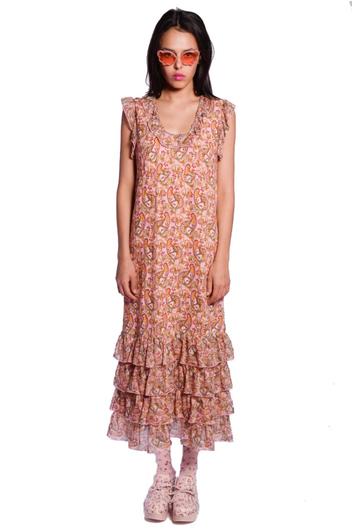 Bellflower Paisley Maxi Dress - Anna Sui