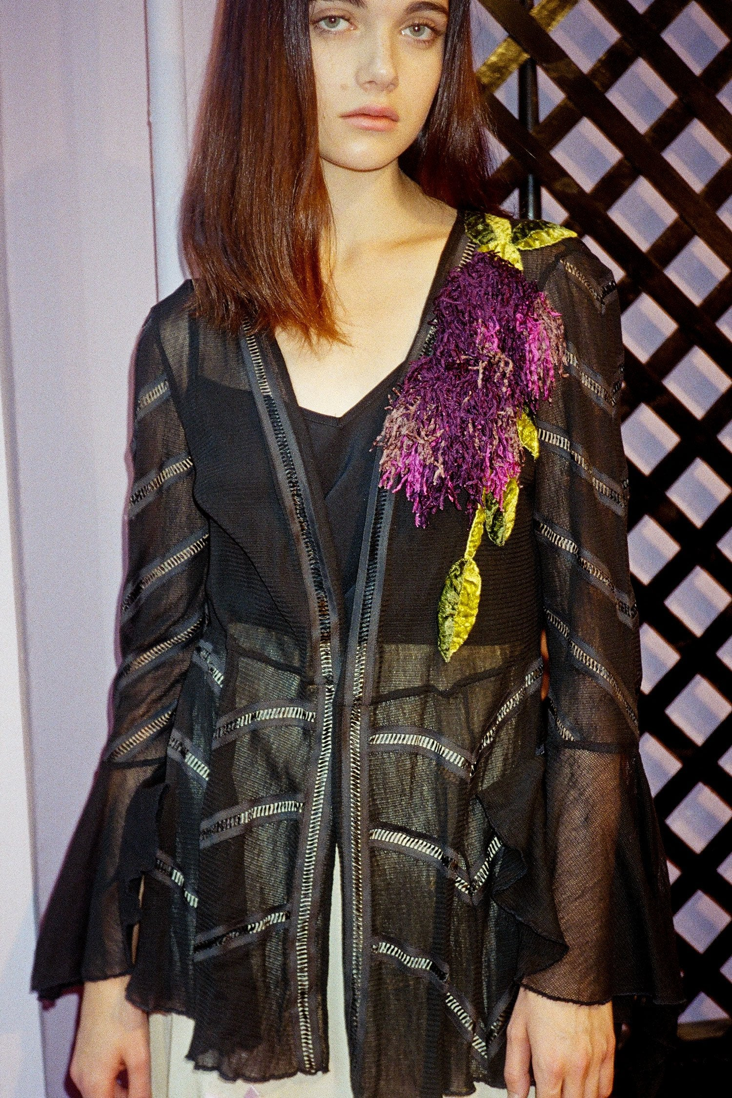 Vintage Black Mesh Cover-Up - Anna Sui
