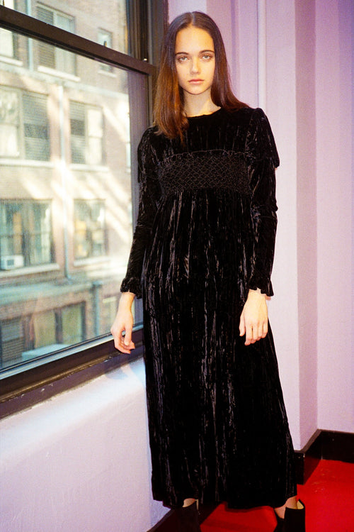 Vintage Black Velvet Dress <br> Fall 1993 - Anna Sui