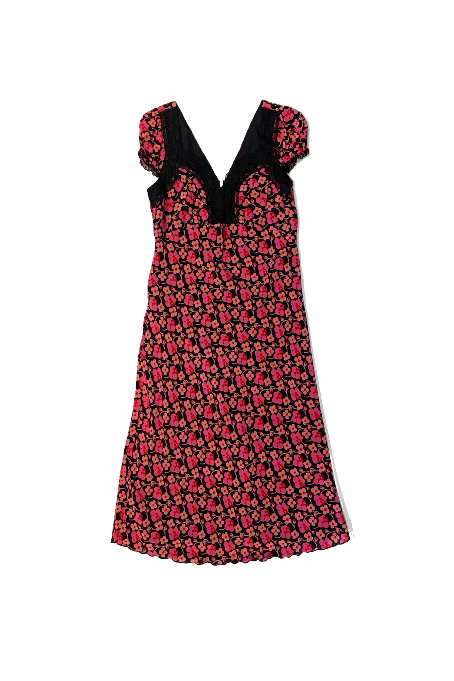 Upcycle Lace Trim Dress - Anna Sui