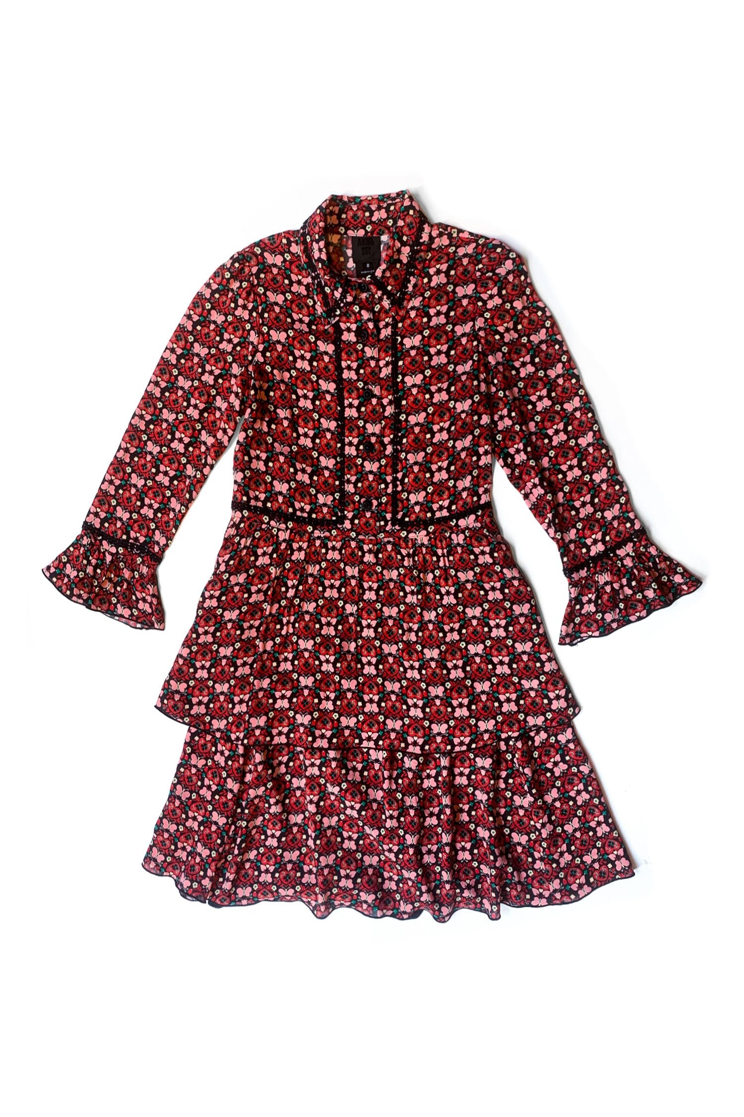 Long Sleeve Butterfly Dress - Anna Sui