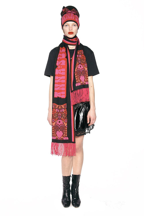 James Coviello for Anna Sui <br>Whoo's That Pussycat? Scarf</br> - Anna Sui