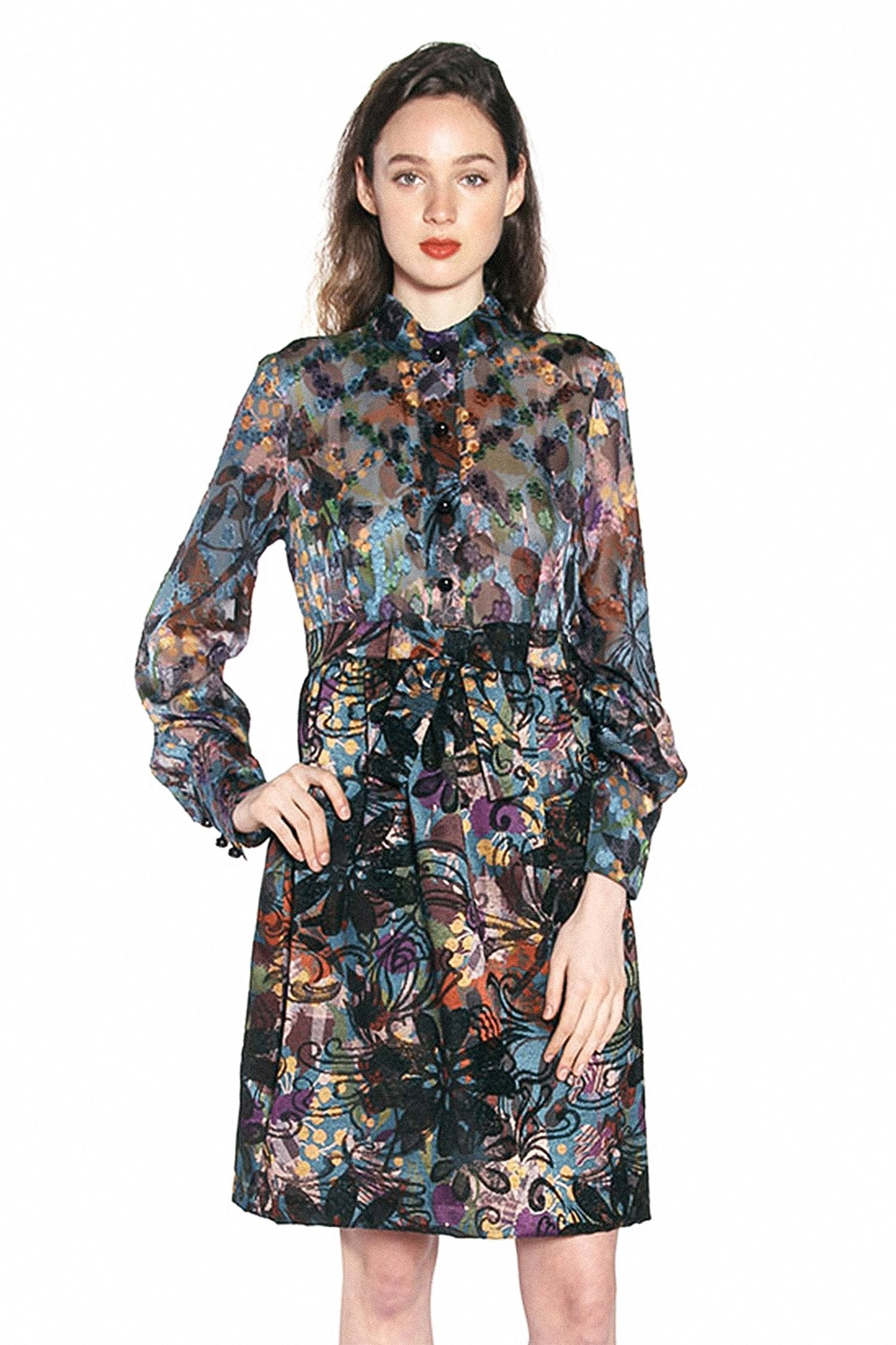 Sugar Plums Jacquard & Clip Jacquard Dress