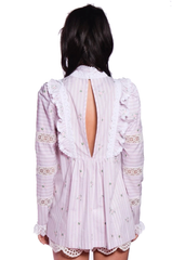 Embroidered Stripes Top - Anna Sui