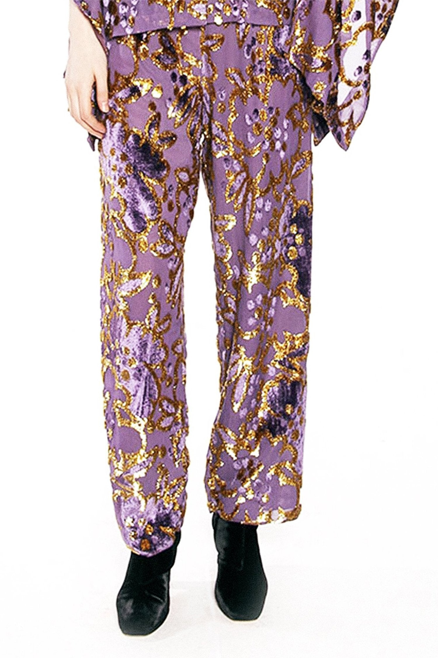 Magic Moments Metallic Velvet Jacquard Pant