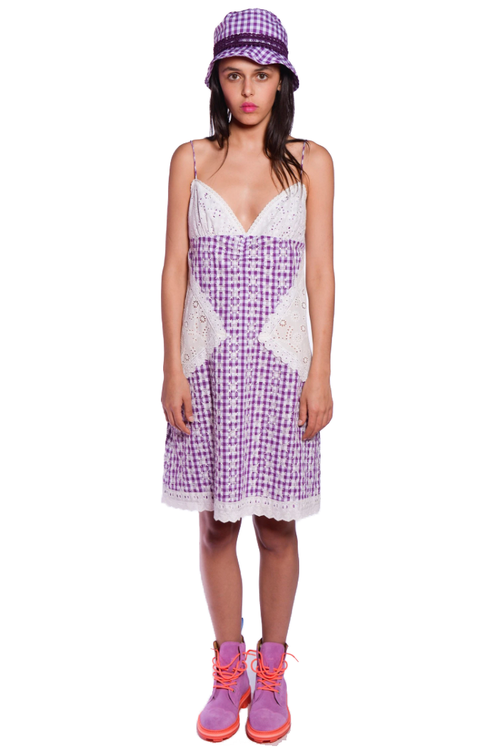 Gingham Strappy Dress - Anna Sui