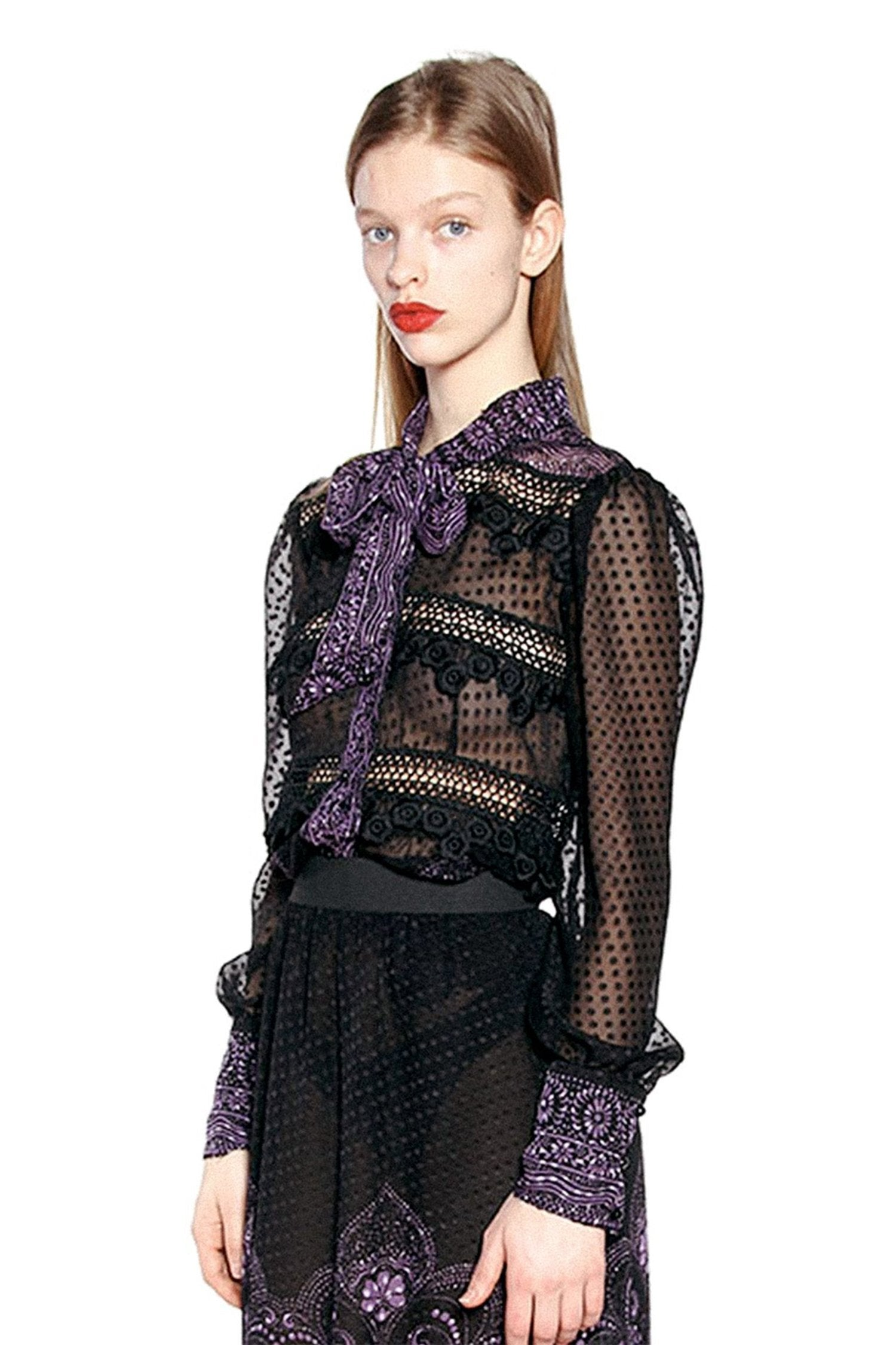 Fountains of Fancy Clip Dot Jacquard Top