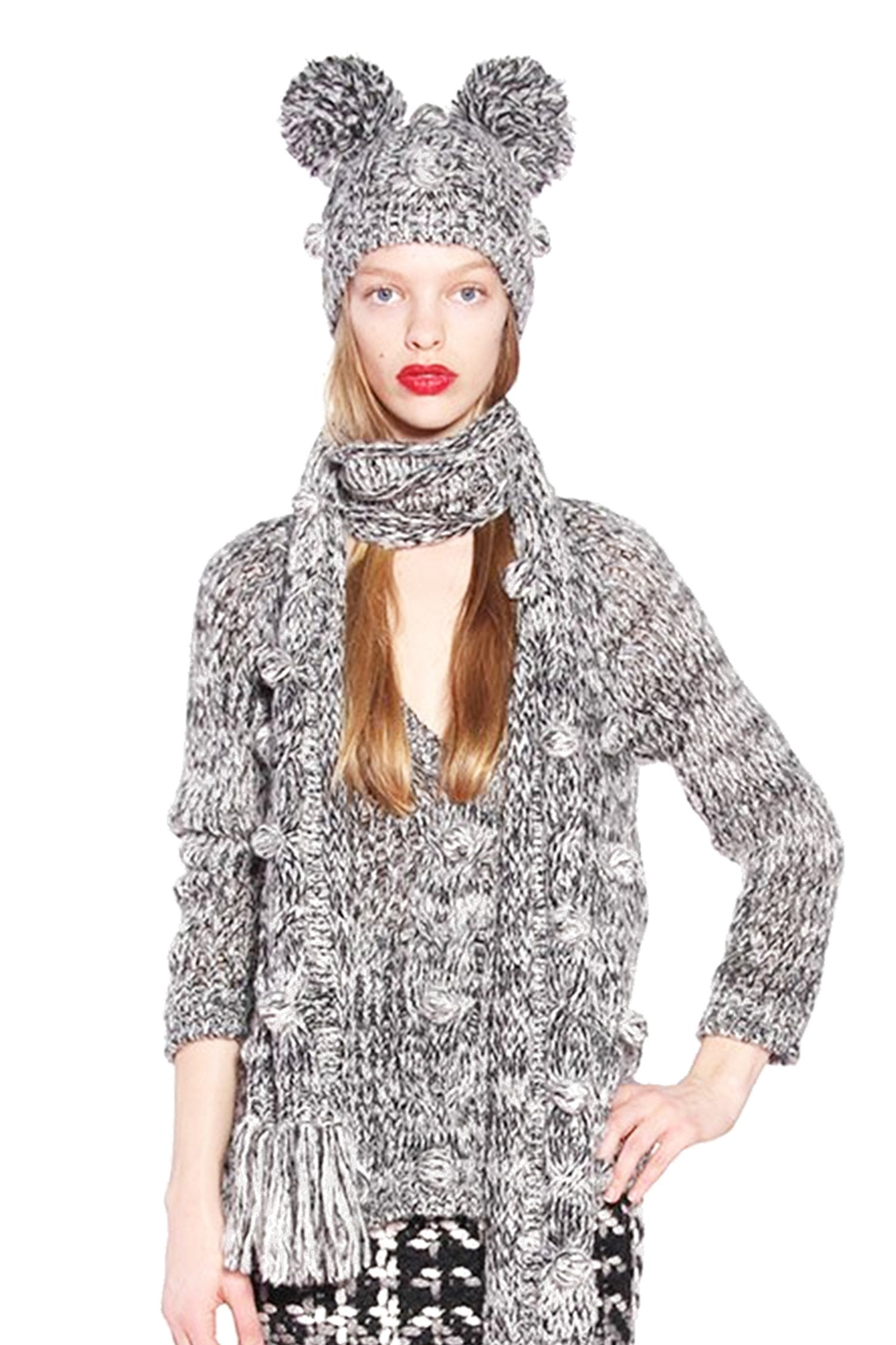 James Coviello for Anna Sui <br> Mohair Melange Beanie</br> - Anna Sui