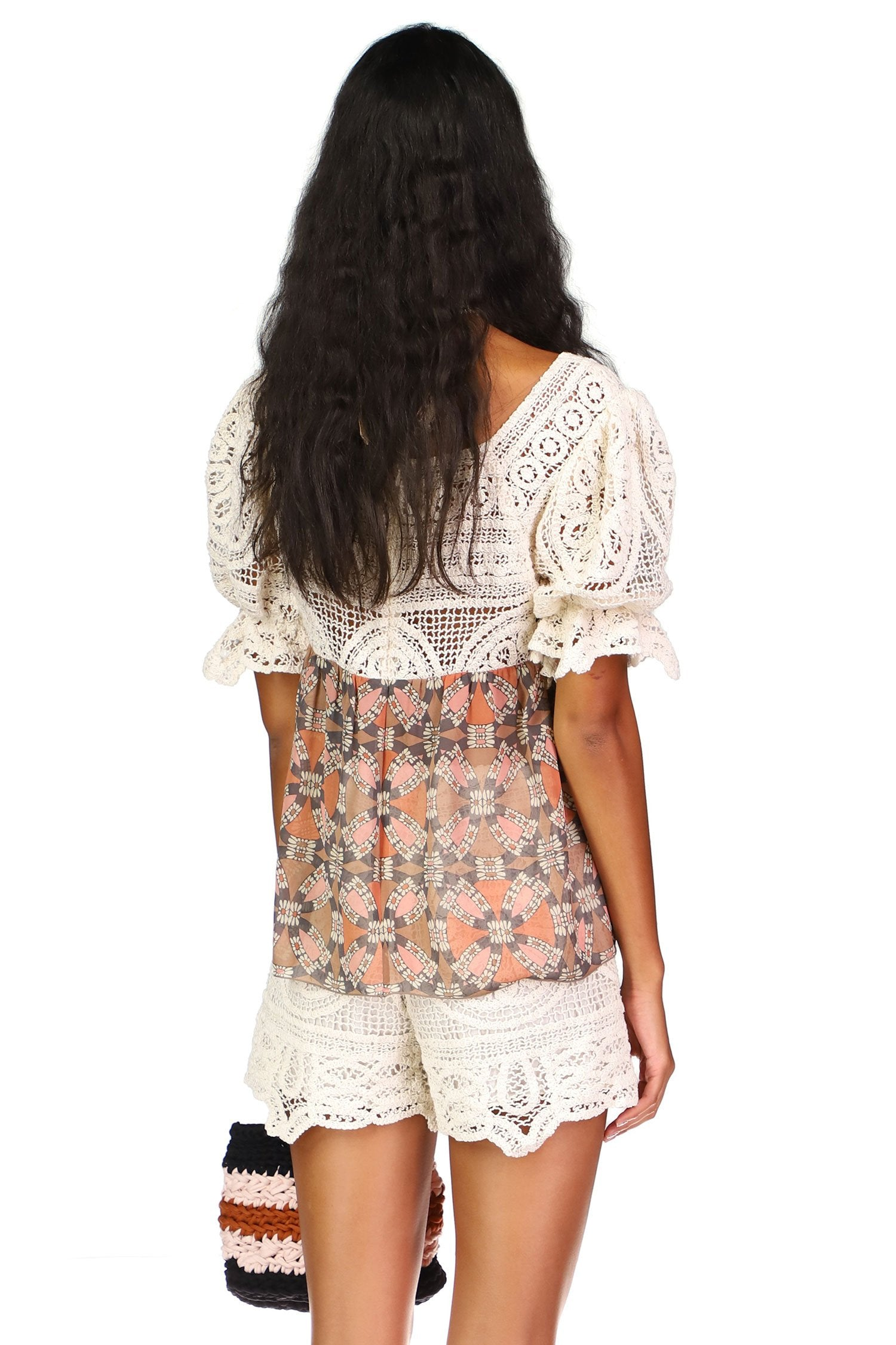 Ring Around the Rosie Lace Top - Anna Sui