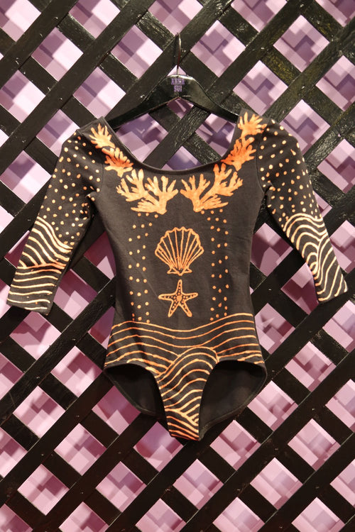 BRASS ARROW <br>  Discharge Dyed Leotard - Anna Sui