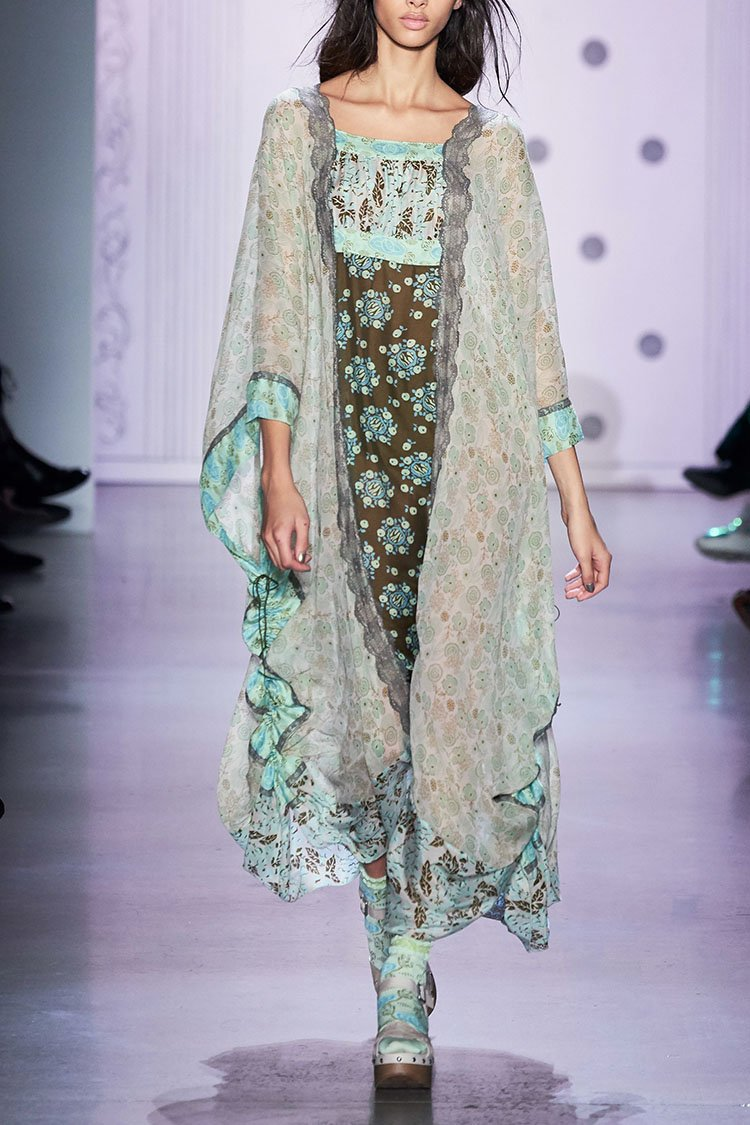 Flowers In the Field Caftan - Anna Sui