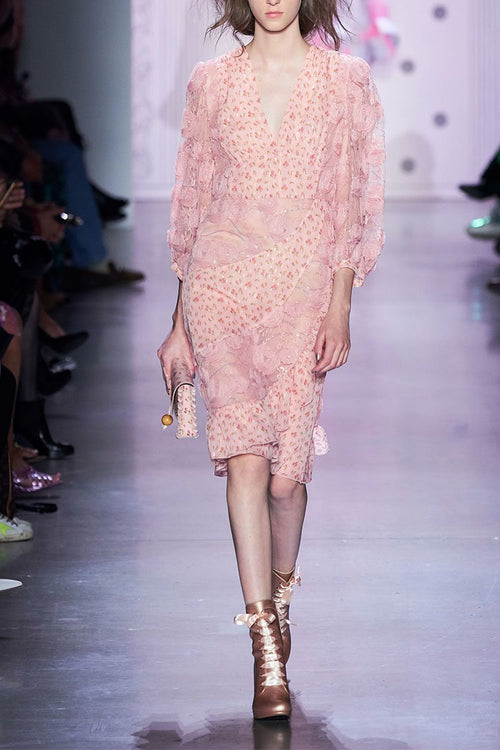 Embroidered Tulle Dress - Anna Sui