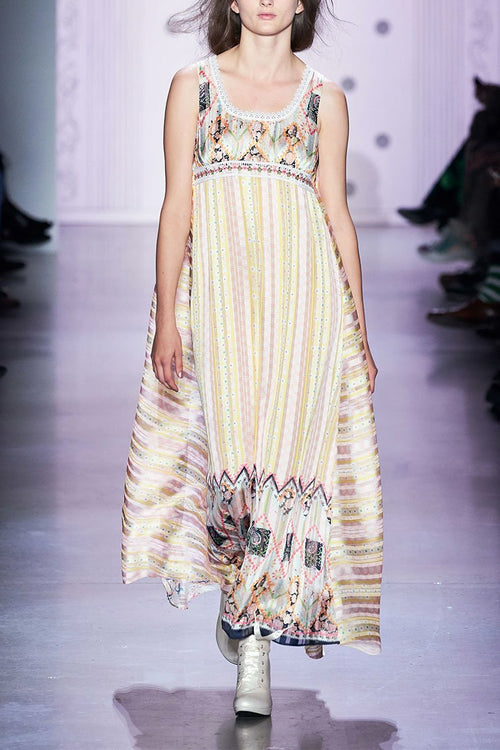 Botanical Patchwork Maxi Dress - Anna Sui