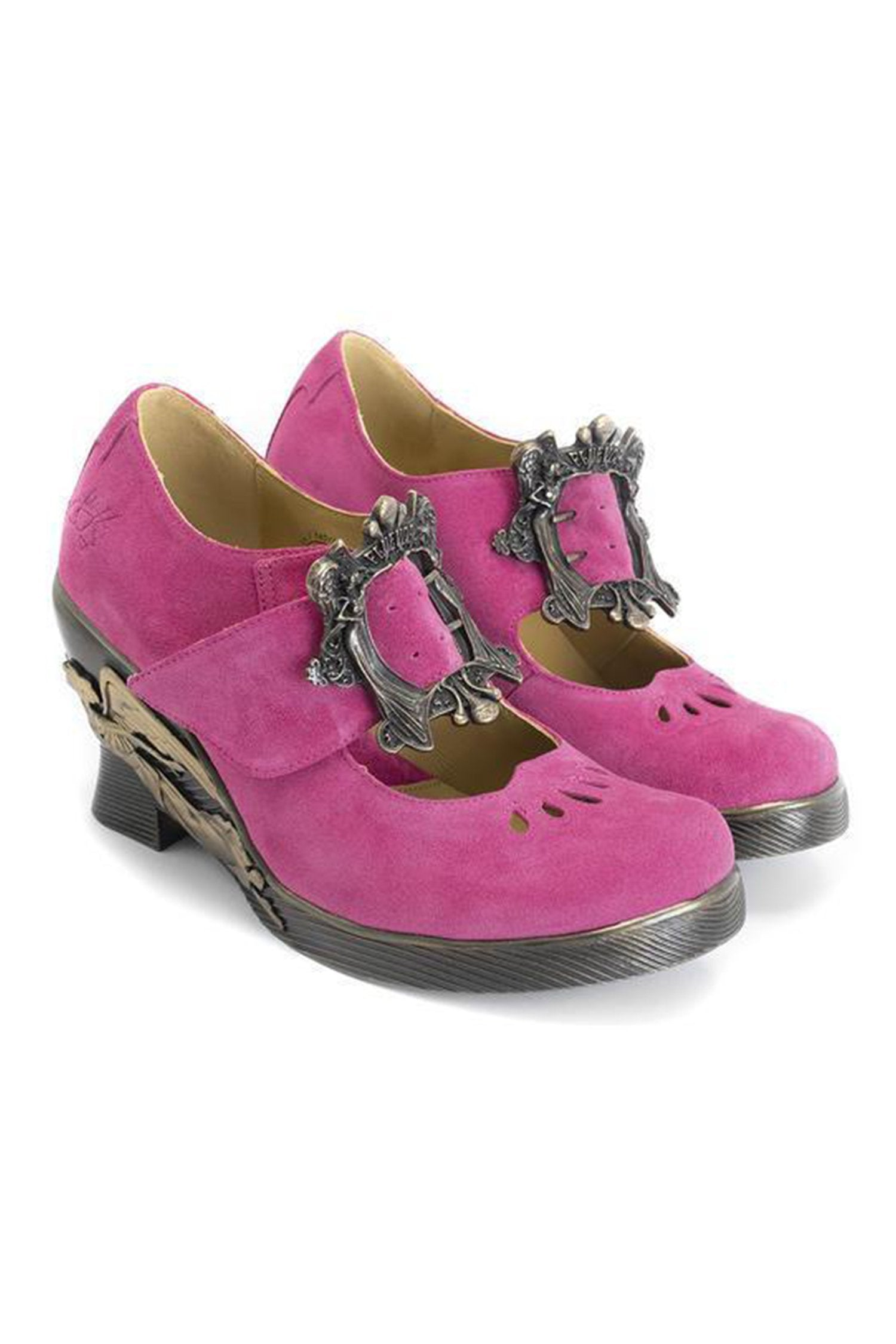 John Fluevog <br>Monika: Custom Buckled Mary Jane</br> - Anna Sui