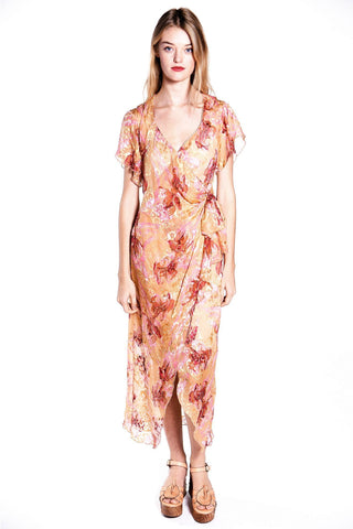 Tropical Fruit Medley One Shoulder Dress