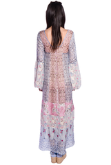 Paisley Garden Border Peasant Dress - Anna Sui