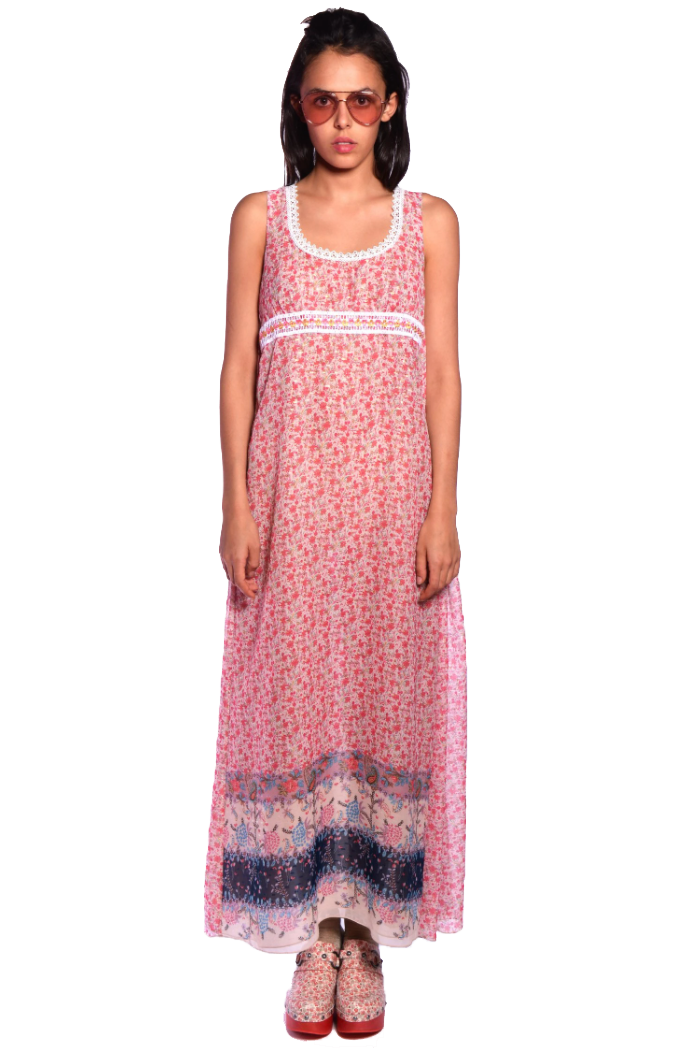 Paisley Garden Border Maxi Dress - Anna Sui