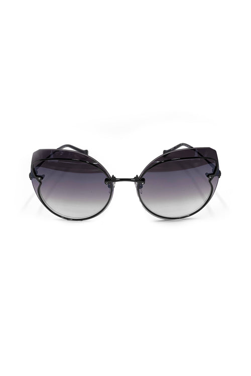 Butterfly Wings Sunglasses <br> in Dark Gun </br> - Anna Sui