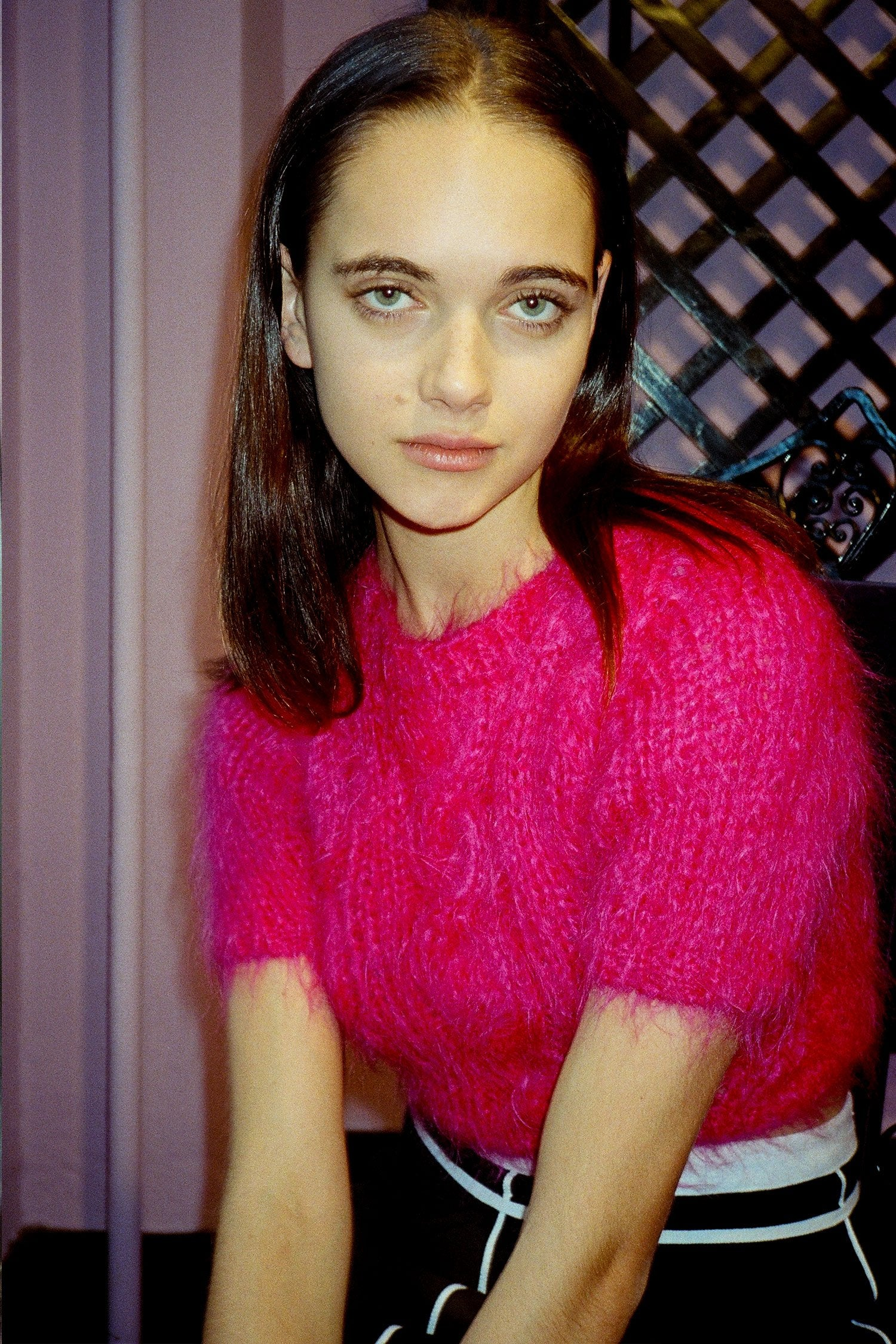 Vintage Hot Pink Mohair Sweater <br> Fall 1994 - Anna Sui