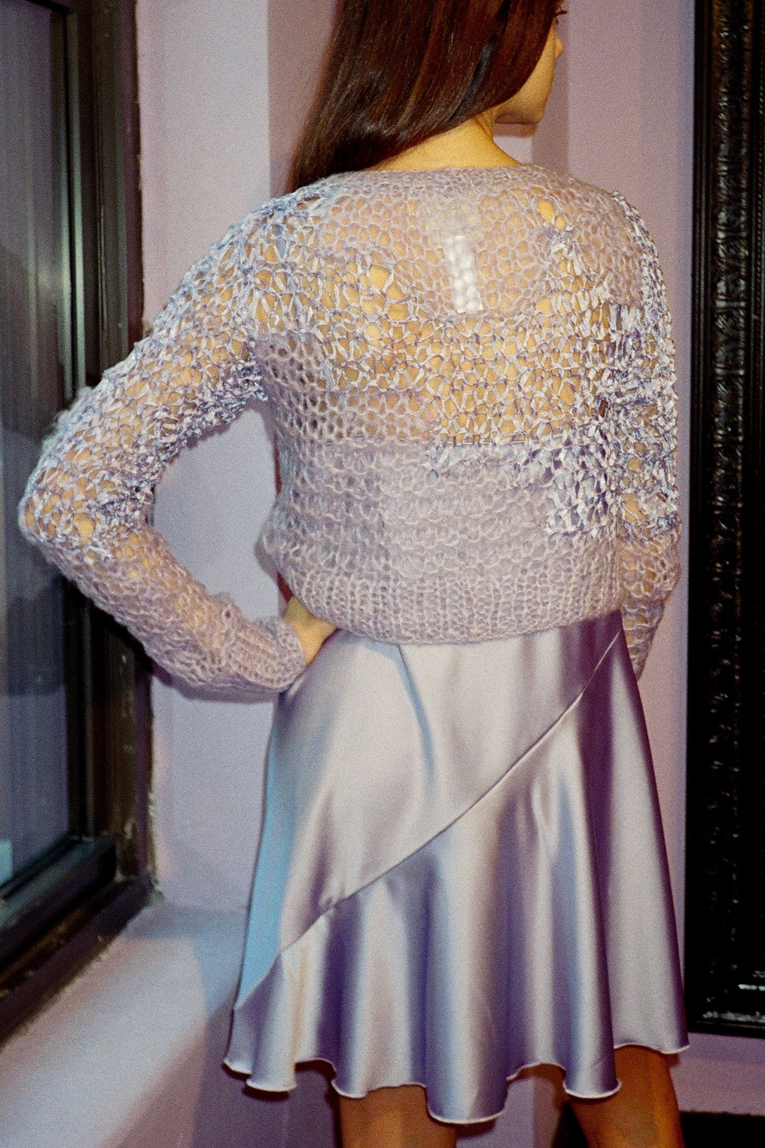 Vintage Lavender Mohair Sweater & Satin Dress <br>  Spring 1994 - Anna Sui